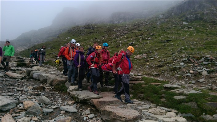 Stretcher Carry PYG Track August 2015