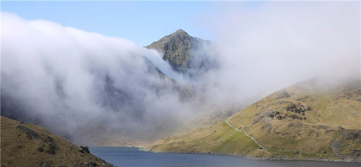 Snowdon in cloud